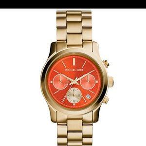 Michael Kors Runway Watch with orange face